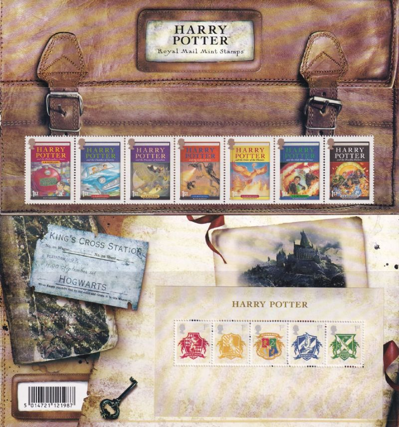 2007 Harry Potter Stamp Presentation Pack